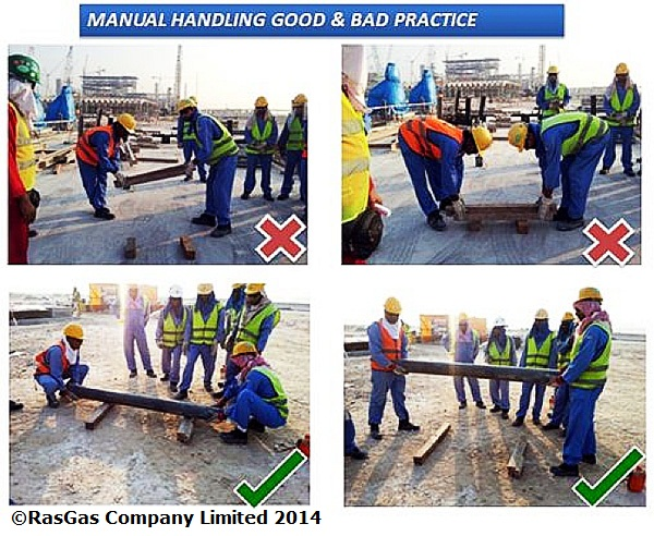 how to carry an object manual handling